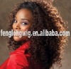 Afro curl full lace wig remy hair