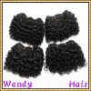 Afro jerry curl human hair weave