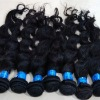 Authentic brazilian hair natural black virgin human hair weft