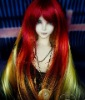 BJD vivid phoenix color long straight wig