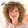 Beautiful and shoulder length blond curly human hair wigs for women