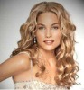 Beautiful women's Women's Health wavy hair Pale blond party wigs wigs free shipping