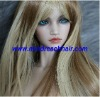 "Best quality 22"" 24# sil straight pure virgin Chinese human hair wigs,accept paypal"