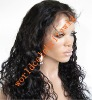 Best sale18inch fashion wave 1# in stock front lace wig