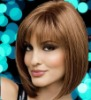 Best-selling 100% Full lace wigs Indian remy with bangs accept paypal