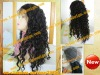 Best selling 100% indian remy hair loose curl long full lace wig for woman