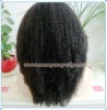 Black Woman AAA Grade Indian Remy Afro Kinky Curl Lace Front Wigs