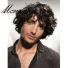 Black and short curly human hair wig for men