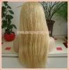 Blond Color Straight Indian Remy Hair Lace Wigs