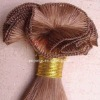 Blond hand tied human hair wefts