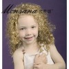 Blond human hair wigs for children