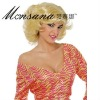 Blond short curl synthetic wig for fashion women