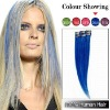 Blue 18 Inches  Clip-in Remy Hair Extensions