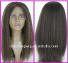 Brazilian virgin remy kinky straight full lace wig