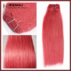 Brilliant Pink Human Hair Weft