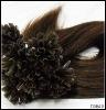 Brown Human Nail Tip Keratin Bonded Hair Extensions