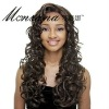 Brown long curly human hair full lace wig for ladies