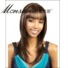 Brown long silky straight wave human hair full lace wig for black ladies