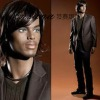 Brown short kinky curl human hair full lace wig for men
