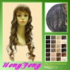 Brown synthetic hair wig-curly wig-long wig