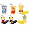 Cartoon Foldable Comb Mirror with Key Ring