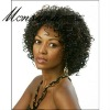 Charming and curl human hair full lace wig for black ladies