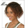 Charming and curl short human hair full lace wig for black ladies