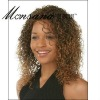 Charming and curl shoulder length human hair full lace wig for black ladies