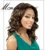 Charming and long deep wave brown human hair full lace wig for black ladies