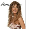 Charming and long water wave blond human hair full lace wig for black ladies