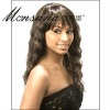 Charming and long water wave human hair full lace wig for black ladies