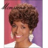 Charming and short curly brown human hair full lace wig for black ladies