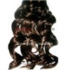 Charming curly human hair wefts
