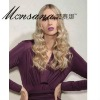Charming long deep wave blond human hair full lace wig for ladies