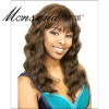 Charming long deep wave human hair full lace wig for black ladies
