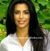 Charming natural straight Brazilian virgin hair full lace wig