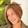 Charming short brown bobo human hair wigs for women