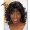 Charming shoulder length kinky curl human hair full lace wig for black ladies