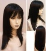 Chinese hair front lace wig with bang