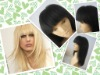 Chinese virgin straight lace wig neat bang