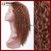 Chocolate Brown Virgin Human Hair Lace Wig