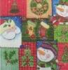Christmas Santa and snowman printed Napkins