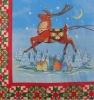 Christmas deer printed dinner Napkins