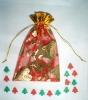 Christmas tree shape Paper soap /soap confetti/soap paper in organza bag