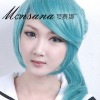 Cool  Wholesale Cosplay fashion long synthetic wigs 50cm