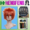 Cosplay hair wig orange male synthetic cosplay wig