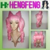 Cosplay hair wig pink long cosplay wig two ponytails