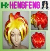 Cosplay hair wig yellow red synthetic cosplay wig