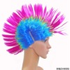 Crazy rock football fans wigs