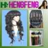 Curly black color wig-synthetic hair wigs-good daily wig